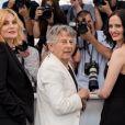 """Emmanuelle Seigner, Roman Polanski et Eva Green - Photocall du film """"D'Après Une Histoire Vraie"""" lors du 70ème Festival International du Film de Cannes le 27 mai 2017"""