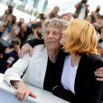 """Roman Polanski avec sa femme Emmanuelle Seigner au photocall de """"D'Après Une Histoire Vraie"""" lors du 70e Festival International du Film de Cannes, le 27 mai 2017. © Borde-Jacovides-Moreau/Bestimage"""