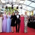 "Addison Riecke, Elle Fanning, Kirsten Dunst, Sofia Coppola, Colin Farrell, Angourie Rice, Nicole Kidman - Montée des marches du film ""Les Proies"" (The Beguiled) lors du 70e Festival International du Film de Cannes. Le 24 mai 2017. © Borde-Jacovides-Moreau/Bestimage"
