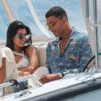 Kourtney Kardashian et son compagnon Younes Bendjima quittent l'hôtel du Cap Eden Roc. Antibes, le 24 mai 2017.
