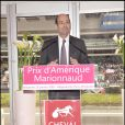 Eric Woerth, ministre du budget, au Prix d'Amérique Marionnaud, le 25/01/09