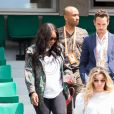 Serena Williams, enceinte, assiste à la rencontre Venus Williams v Kurumi Nara à Roland Garros. Paris, le 31 mai 2017.