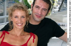 Jean Dujardin avec Alexandra Lamy dans