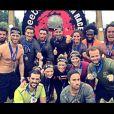 """Les team """"Danse avec les stars"""" et """"Koh-Lanta"""" après la Spartan Race du 3 juin 2017 à Jablines."""