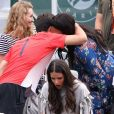 Serena Williams, enceinte, dans les tribunes de Roland-Garros à Paris le 2 juin 2017 lors du match de sa soeur Venus Williams. © Cyril Moreau / Dominique Jacovides / Bestimage