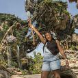 """Serena Williams déguisée en Na'vi à l'attraction """"Pandora - The World of Avatar"""" à Disney's Animal Kingdom en Floride, le 11 mai 2017."""