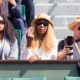Oracene Price, la mère de Serena et Venus Williams, à Roland-Garros le 31 mai 2017 lors d'un match de Venus.