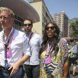 Serena Williams et son fiancé Alexis Ohanian au Grand Prix de Monaco le 28 mai 2017.