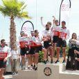 Ryk Neethling et Marc Thomas lors de la 1re édition du Riviera Water Bike Challenge disputé en mer entre Nice et Monaco, le 4 juin 2017, au profit des actions de la Fondation Princesse Charlene de Monaco. © Claudia Albuquerque / Bestimage