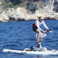 Paula Radcliffe lors de la 1re édition du Riviera Water Bike Challenge disputé en mer entre Nice et Monaco, le 4 juin 2017, au profit des actions de la Fondation Princesse Charlene de Monaco. © Claudia Albuquerque / Bestimage