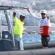 Gareth Wittstock au cours de la 1re édition du Riviera Water Bike Challenge disputé en mer entre Nice et Monaco, le 4 juin 2017, au profit des actions de la Fondation Princesse Charlene de Monaco. © Claudia Albuquerque / Bestimage