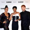 "Jennifer Hudson (lauréate du Trailblazer Award) avec Adam Lambert et Alesha Dixon- ""Glamour Awards 2017"" à Berkeley Square. Londres, le 6 juin 2017."