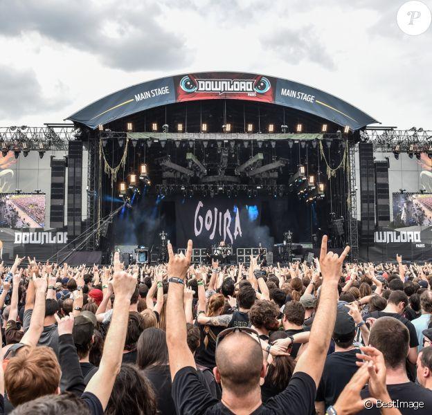Gojira lors du Download Festival, première édition en France, à l'hippodrome de Longchamp à Paris le 10 juin 2016. © Lionel Urman / Bestimage