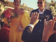 Mariage de Cristina Cordula : La Reine du Shopping en robe de mariée jaune