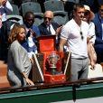 Estelle Mossely (enceinte) et Alexander Skarsgard - Personnalités dans les tribunes lors des internationaux de France de Roland Garros à Paris. Le 10 juin 2017. © Jacovides - Moreau / Bestimage