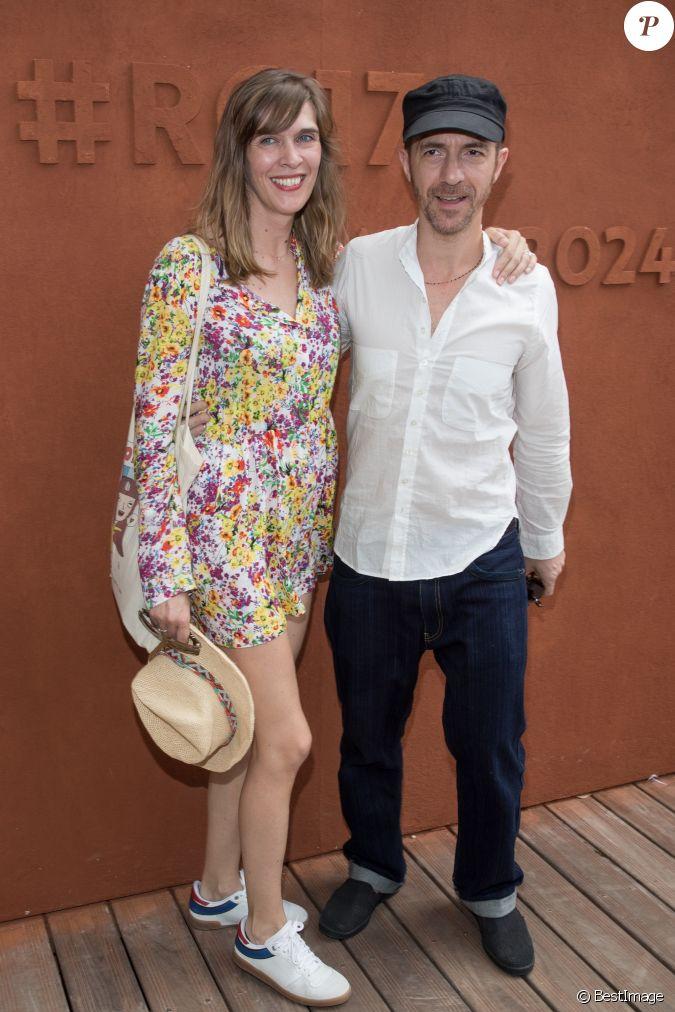 Calogero et sa compagne marie bastide au village lors de la finale homme des internationaux de - Stephane marie et sa compagne ...