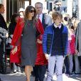 Exclusif - Melania Trump et son fils Barron Trump vont déjeuner au restaurant Serafina à New York, le 17 novembre 2016.