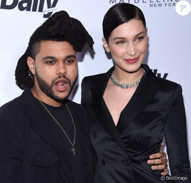 """The Weeknd et Bella Hadid à la soirée """"The 2016 Fashion Los Angeles Awards"""" à l'hôtel Sunset Tower à West Hollywood. Le 20 mars 2016"""