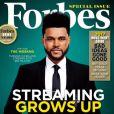"""The Weeknd en couverture du magazine """"Forbes"""", juin 2017."""