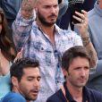 Matt Pokora dans les tribunes des internationaux de France de Roland Garros à Paris le 30 mai 2017. © Cyril Moreau / Dominique Jacovides / Bestimage