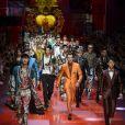 Défilé de mode Dolce & Gabbana, collection masculine printemps-été 2018 à Milan. Le 17 juin 2017.