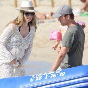 Nico Rosberg : Sa femme Vivian, enceinte, arbore son beau ventre rond à la plage