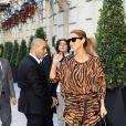 Semi Exclusif - La chanteuse Céline Dion va à la salle de sport Ken Club, à Paris, puis rentre à l'hôtel Royal Monceau, le 19 juin 2017.