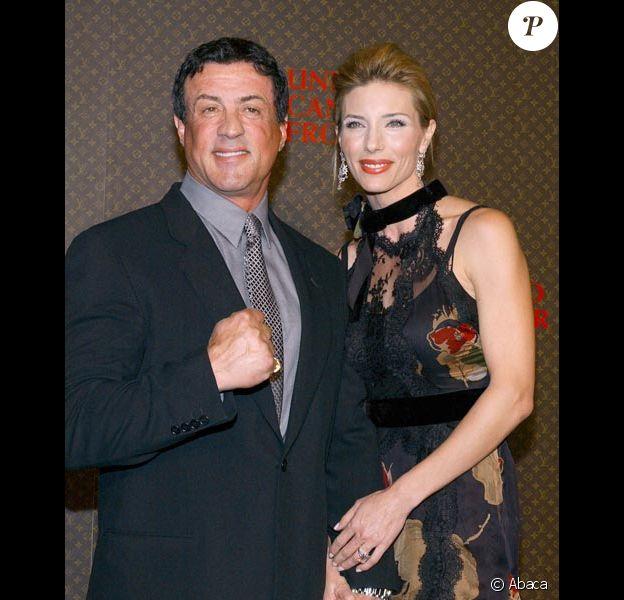 Sylvester Stallone et sa femme Jennifer Flavin en 2004
