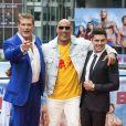 David Hasselhoff, Dwayne Johnson et Zac Efron - Photocall de 'Baywatch' au Sony Center à Berlin, le 30 mai 2017 © Future-Image via Zuma/Bestimage