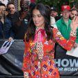 """Salma Hayek arrive au """"daily show"""" à New York le 8 juin 2017."""