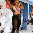 Serena Williams danse en petite tenue pour la promotion de la marque Berlei en marge de l'Open d'Australie à Melbourne, Australie, le 12 janvier 2017.