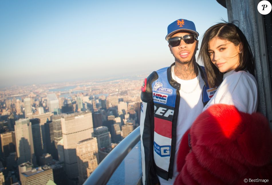Kylie Jenner et Tyga visitent l'Empire State Building pour la Saint Valentin à New York, le 14 février 2017