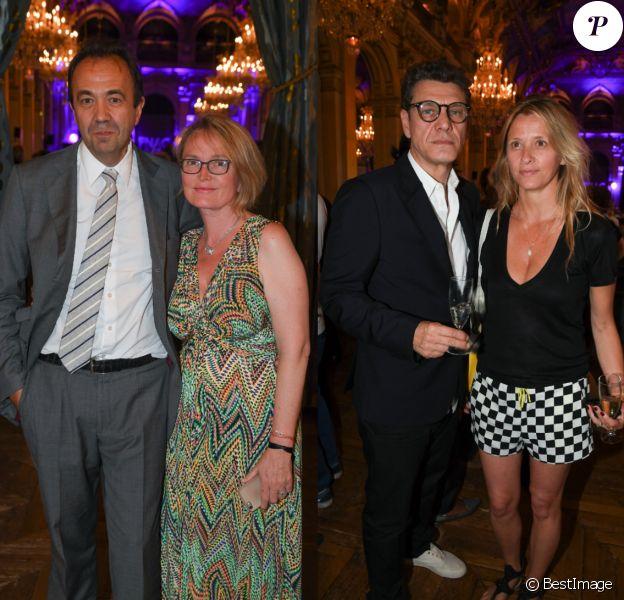Claude Chirac et Marc Lavoine, en couples au Fnac Live 2017 à Paris.