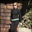 Rebecca Romijn a retrouvé la ligne, hier à Woodland Hills
