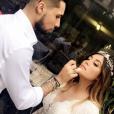 Anaïs Camizuli et Eddy le 13 mai 2017, à l'occasion du mariage de la première avec un certain Sultan.