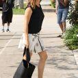 Jennifer Garner arrive à l'église à Brentwood, le 9 juillet 2017
