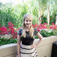 """Melissa Rauch en conférence de presse pour le film """"The Bronze"""" au Four Seasons de Beverly Hills à Los Angeles le 8 mars 2016."""