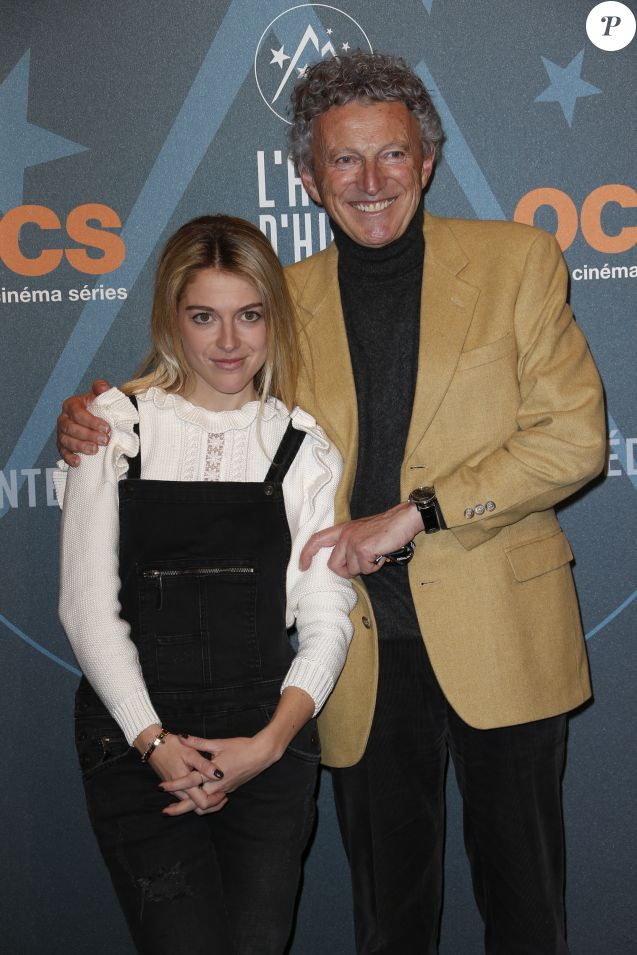 Nelson Monfort et sa fille Victoria Soirée au palais des sports 19ème festival international du film de comédie de l'Alpe d'Huez 2016.
