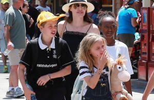 Angelina Jolie : Virée à Disneyland pour les 9 ans des jumeaux Vivienne et Knox