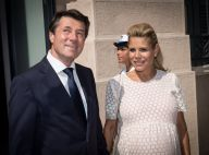 Nice, l'hommage : Christian Estrosi ému et soutenu par Laura Tenoudji enceinte
