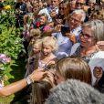 La princesse Victoria de Suède fête son 40ème anniversaire entourée de sa famille au château de Solliden sur l'île d'Oland le 15 juillet 2017, au lendemain de la date de sa naissance elle rencontre la population venue lui apporter des cadeaux