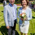 Le roi Gustav et la reine Silvia - La princesse Victoria de Suède fête son 40ème anniversaire entourée de sa famille au château de Solliden sur l'île d'Oland le 15 juillet 2017, au lendemain de la date de sa naissance elle rencontre la population venue lui apporter des cadeaux