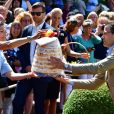 La princesse Victoria, le prince Daniel - La princesse Victoria de Suède fête son 40ème anniversaire entourée de sa famille au château de Solliden sur l'île d'Oland le 15 juillet 2017, au lendemain de la date de sa naissance elle rencontre la population venue lui apporter des cadeaux