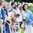 Le roi Carl Gustav et la reine Silvia - La princesse Victoria de Suède fête son 40ème anniversaire entourée de sa famille au château de Solliden sur l'île d'Oland le 15 juillet 2017, au lendemain de la date de sa naissance elle rencontre la population venue lui apporter des cadeaux