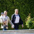 Le prince Daniel et son fils le prince Oscar - La princesse Victoria de Suède fête son 40ème anniversaire entourée de sa famille au château de Solliden sur l'île d'Oland le 15 juillet 2017, au lendemain de la date de sa naissance elle rencontre la population venue lui apporter des cadeaux