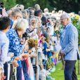 Le roi Carl Gustav - La princesse Victoria de Suède fête son 40ème anniversaire entourée de sa famille au château de Solliden sur l'île d'Oland le 15 juillet 2017, au lendemain de la date de sa naissance elle rencontre la population venue lui apporter des cadeaux