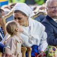 La princesse Victoria et la princesse Estelle - La princesse Victoria de Suède fête son 40ème anniversaire entourée de sa famille sur l'île d'Oland le 14 juillet 2017