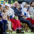 Prince Daniel, la princesse Estelle, la princesse Victoria, le roi Carl Gustav, la reine Silvia, le Prince Carl Philip - La princesse Victoria de Suède fête son 40ème anniversaire entourée de sa famille sur l'île d'Oland le 14 juillet 2017