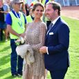 La princesse Madeleine et Christopher O'Neill - La princesse Victoria de Suède fête son 40ème anniversaire entourée de sa famille sur l'île d'Oland le 14 juillet 2017