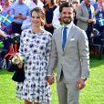 Le prince Carl Philip et la princesse Sofia (enceinte) - La princesse Victoria de Suède fête son 40ème anniversaire entourée de sa famille sur l'île d'Oland le 14 juillet 2017